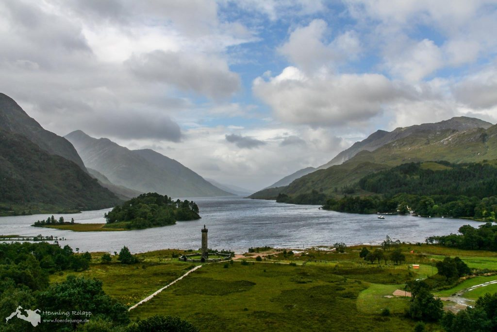 Glen Shiel mit Glenfinnan Monument